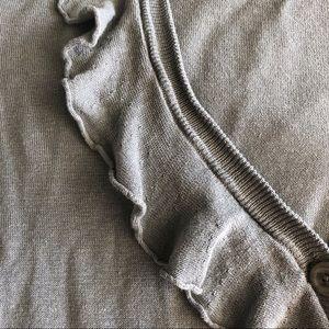 J. Crew Sweaters - J.Crew • Gray Ruffle Cardigan